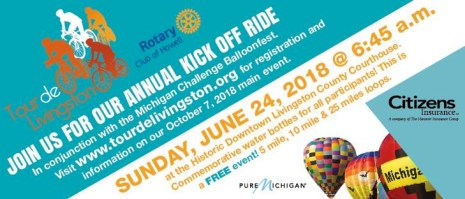 Tour de Livingston Kick Off Ride at Michigan Challenge Balloonfest