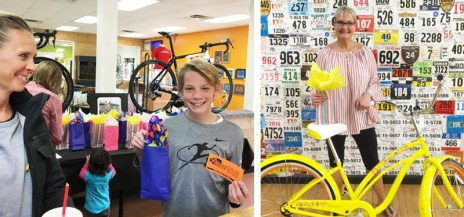 Birthday gifts for our customers at Hometown Bicycles 8th Birthday Party