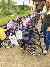 Lake Trust Credit Union Build a Bike Charity Competition: Jamis Bikes line up