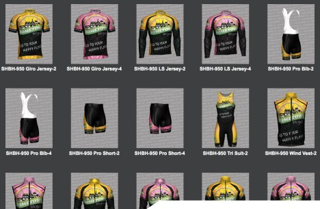Hometown Bicycles team kit - jerseys, shorts, bib shorts, and more