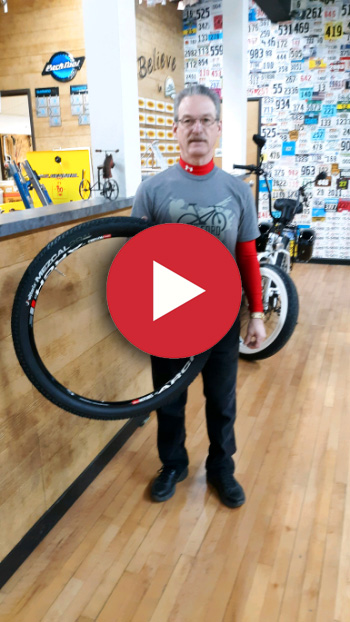 Hometown Bicycles' Les Cook talks tubeless in this video