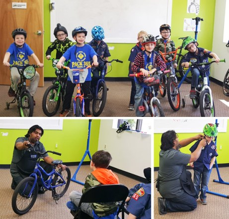 Cub Scout Pack 365 earns their Bicycle Safety Merit Badge at Hometown Bicycles with Shaun Bhajan