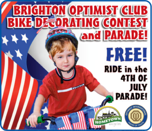 Brighton Optimist Club Bike Decorating Contest and Parade with Hometown Bicycles