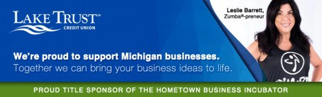 Lake Trust Credit Union - Hometown Business Incubator Title Sponsorship ad