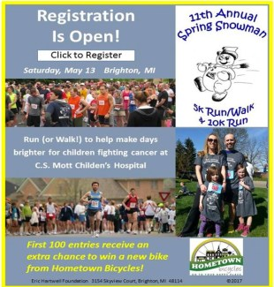11th Annual Spring Snowman 5K Run/Walk and 10K Run