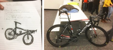Hometown Bicycles gives a lecture on bicycle engineering at Pinckney's Navigator Upper Elementary School