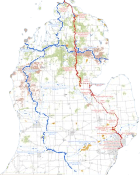 Michigan cycling trails