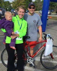 Brighton Area Fire 9/11 Run Jamis bike winner (donated by Hometown Bicycles)
