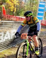 Team Hometown Bicycles rider at Iceman Cometh 2016