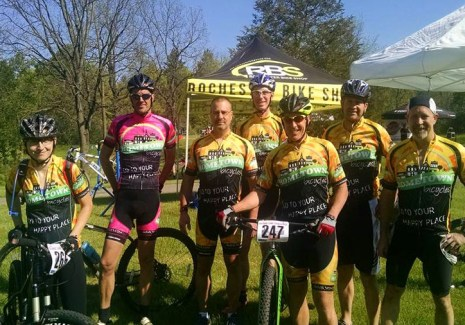Team Hometown Bicycles at Island Lake Spring Mountain Bike Race