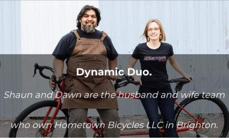 Shaun and Dawn Bhajan of Hometown Bicycles featured on the Lake Trust Credit Union blog