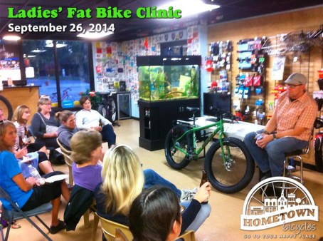 Ladies Fat Bike Clinic at Hometown Bicycles
