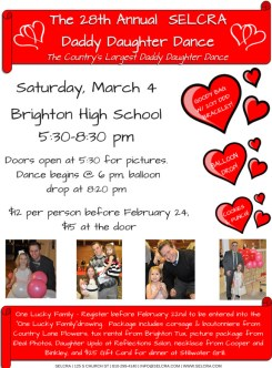 The 28th Annual SELCRA Daddy Daughter Dance flier