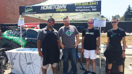 Hometown Bicycles at the 2018 A Taste of Brighton in Downtown Brighton, Michigan