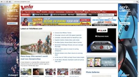 Velo News website
