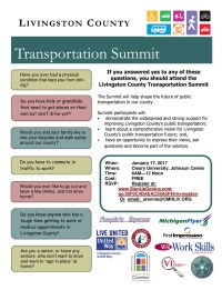 Livingston County Transportation Summit invitation
