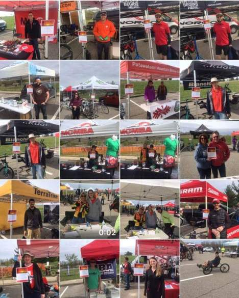 A show of support at the MCMBA's Annual Island Lake Spring Bike Demo Day for the Do It for Dan Memorial Ride