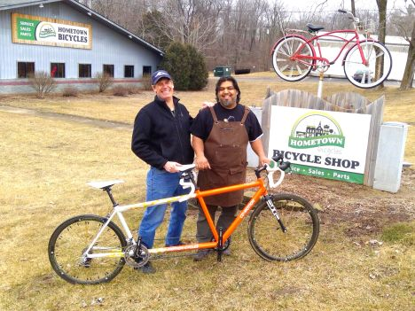 Hometown Bicycles Shaun Bhajan forging an alliance with Joel Hakken of Midwest Bike and Tandem