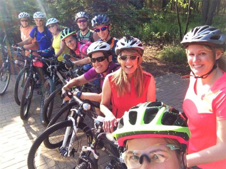 Hometown Bicycles Shop Rides - Green Gals beginner mountain bike group