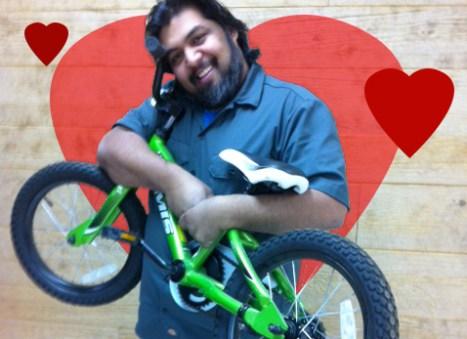 Shaun Bhajan, bike love