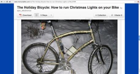 How to run Christmas lights on your bike