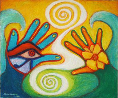 Gemini Hand Portrait by Eleanor Ruckman, MFT, ATR