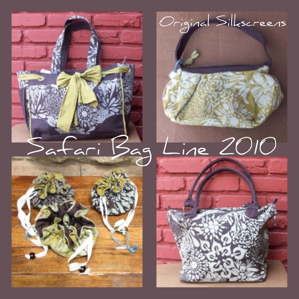 A sampling of the Safari Bag 2010 Line