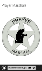 Web page for Prayer Marshals