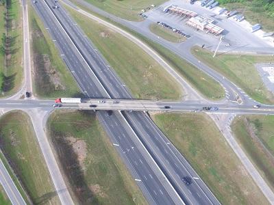 GDOT aerial of I-75 exit 29 at Hahira, GA