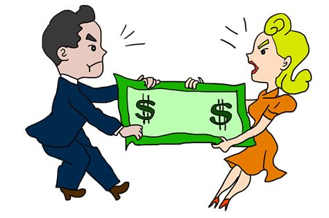 Husband and wife fighting over money
