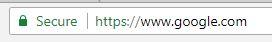 Screenshot of ssl site in Chrome