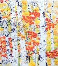 birches 2: radiance by bernadette e. kazmarski