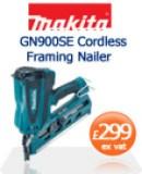 Makita GN900SE Cordless Framing Nailer  £299 ex vat