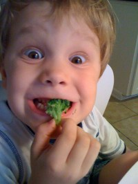 Luke loves broccoli!