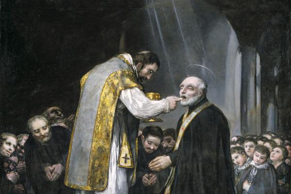 La última comunión de san José de Calasanz Francisco de Goya. 1819. Madrid, Colección Padres Escolapios