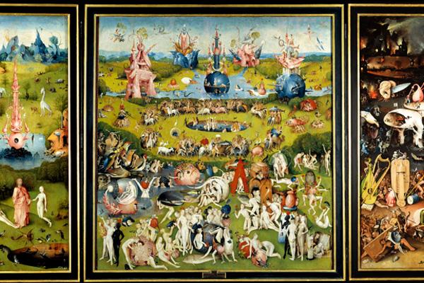 Detalle del Tríptico del jardín de las delicias. El Bosco. h. 1490-1500 Madrid, Museo Nacional del Prado. Depósito de Patrimonio Nacional