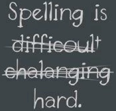 Picture of misspelled words.