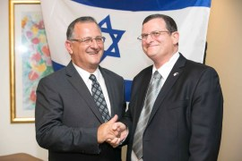 President of ZCNSW Richard Balkin & Ambassador of the State of Israel, His Excellency Shmuel Ben-Shmuel