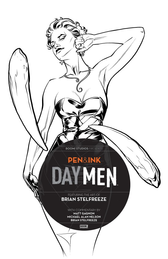 Day Men: Pen & Ink #2 Cover by Brian Stelfreeze