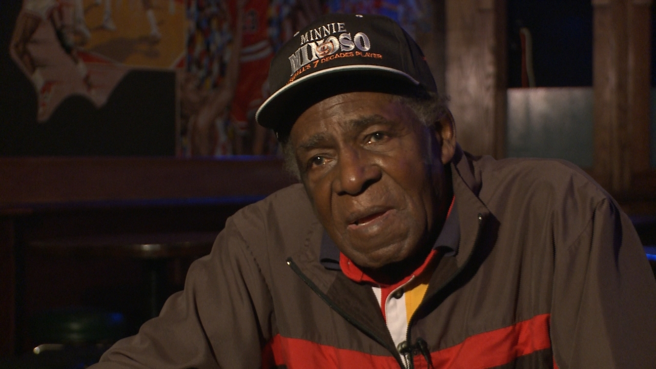 Minnie Minoso in 7 decade hat