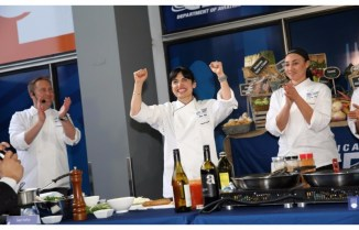 Cooking Competition winners at O'Hare Airport