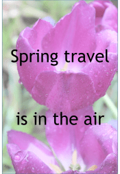 Spring travel is in the air