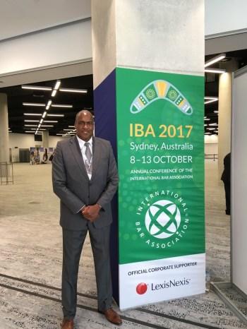 Dr. Tony Rhem at the IBA Conference in Sydney, Australia