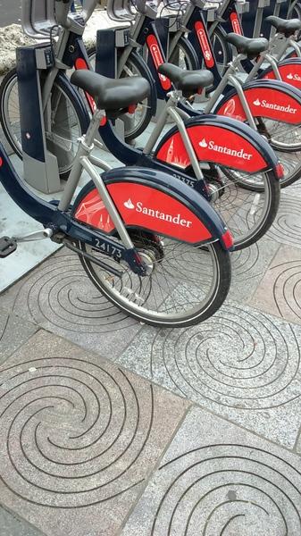 Boris Bikes near the Ritz