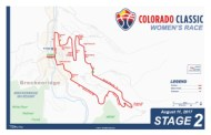 Colorado Classic Stage 2 Women's Map
