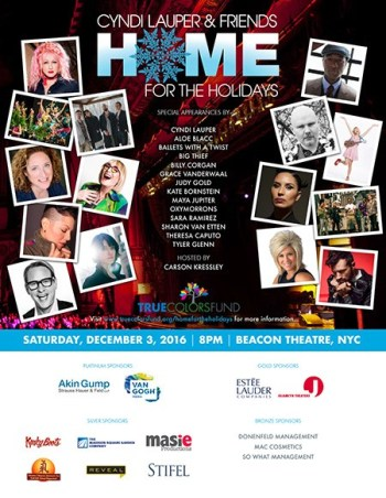 "Cyndi Lauper's True Colors Fund ""Home for the Holidays"""