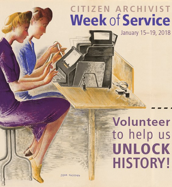 NARA Citizen Archivist Week of Service