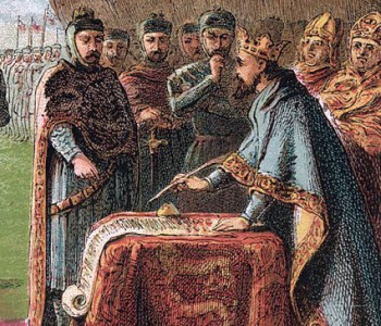 King John signing the Magna Carta, 1215 (Kronheim 1868)