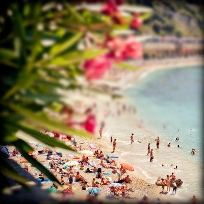 Strand, Beach, Küste, Fotografie, Miniatureffekt, Südfrankreich