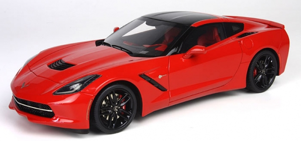 BBR Models 2014 Corvette Stingray C7 Coupe Torch Red Car Model